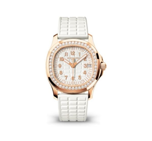 PATEK PHILIPPE AQUANAUT 5068R-010 LUCE RUBBER WHITE DIAL LADIES WATCH