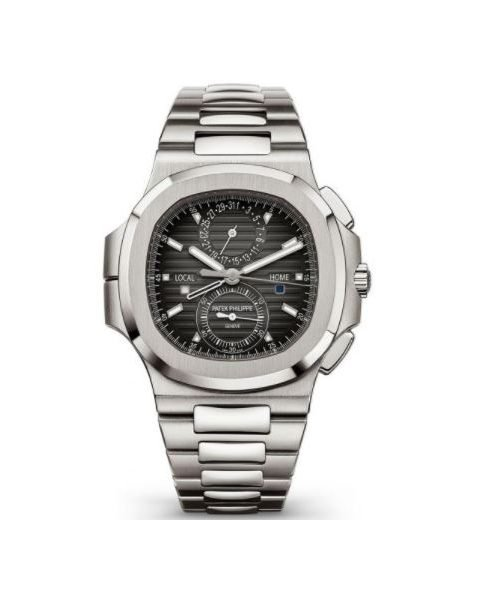 Patek Philippe Pre-Owned Nautilus Travel Time Chronograph Men's Watch