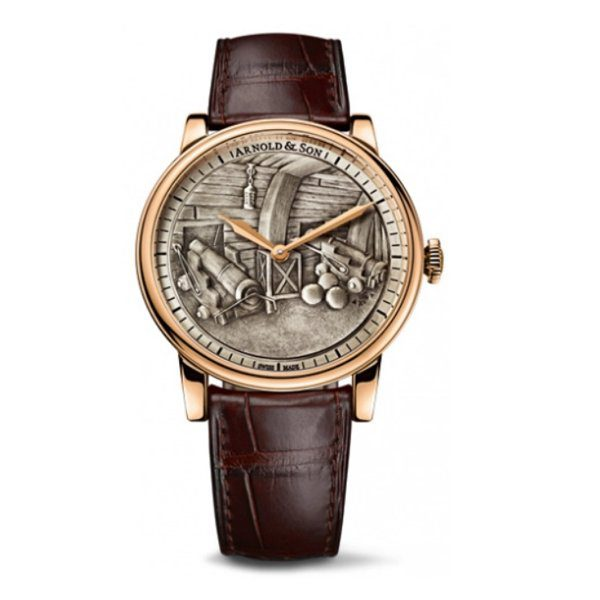 ARNOLD & SON ROYAL COLLECTION HMS VICTORY SET 18K ROSE GOLD