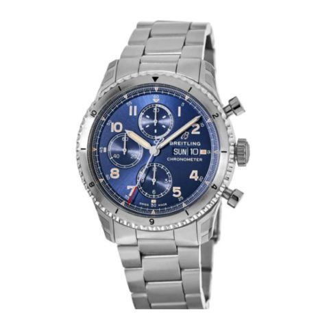 BREITLING AVIATOR 8 CHRONOGRAPH 43 STAINLESS STEEL - BLUE MEN'S WATCH