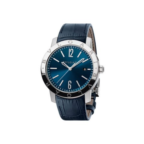BVLGARI BVLGARI SOLO TEMPO WATCH 41MM STAINLESS BLUE DIAL BLUE STRAP STEEL BRACELET REF. BB41C3SLD