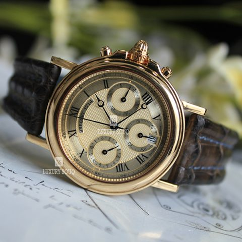 BREGUET MARINE MIDSIZE CHRONOGRAPH 33MM 18K SOLID YELLOW GOLD 4460 AUTOMATIC