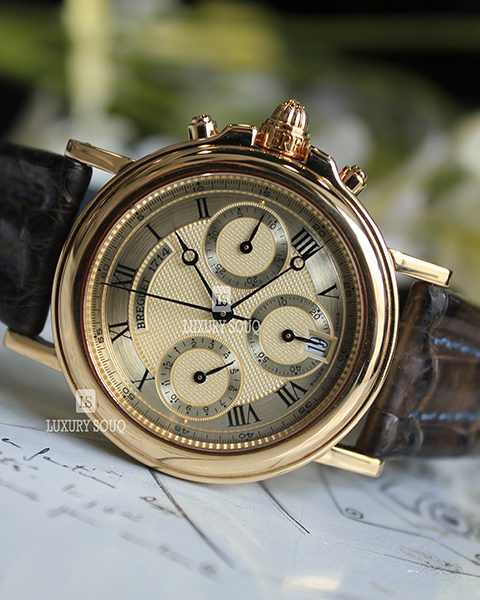 Breguet Marine Midsize Chronograph 33mm 18k Solid Yellow Gold 4460 Automatic Men's Watch