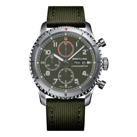 Breitling Pre-owned Aviator 8 Chronograph 43 Curtiss Warhawk Men's Watch