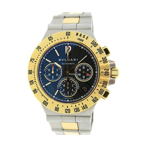BVLGARI DIAGONO STAINLESS STEEL PROFESSIONAL CHRONOGRAPH MEN'S WATCH