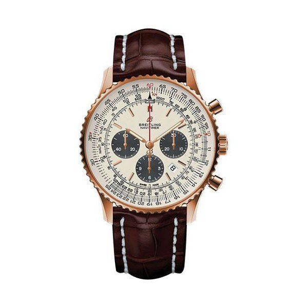 BREITLING NAVITIMER 1 CHRONOGRAPH AUTOMATIC CHRONOMETER SILVER DIAL MEN'S WATCH