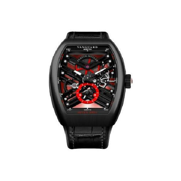 FRANCK MULLER VANGUARD SKELETON RED v45 s6 sqt carbon er