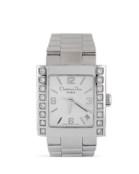 CHRISTIAN DIOR RIVA 64 DIAMONDS STAINLESS STEEL MONTRE RIVA DIAMANTS ACIER LADIES WATCH