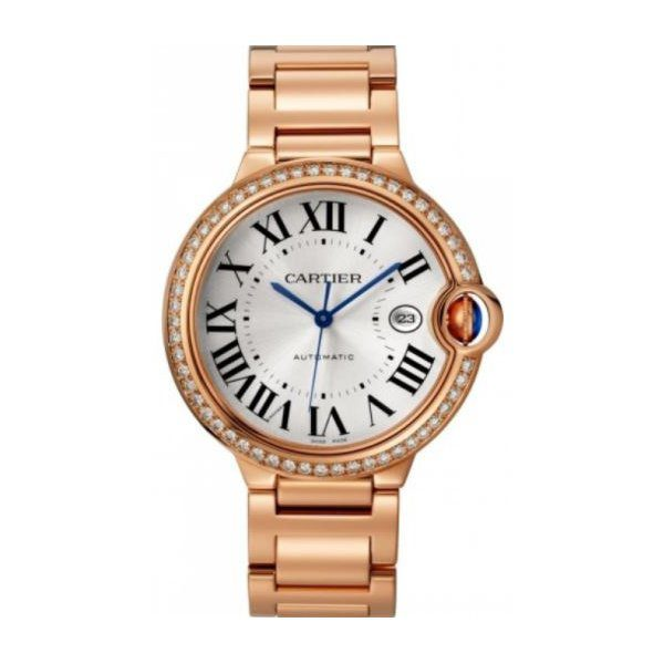 CARTIER BALLON BLEU 42MM ROSE GOLD & DIAMOND