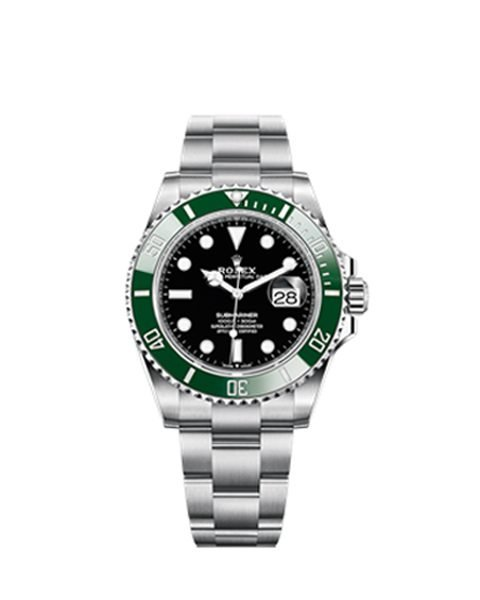Rolex Pre-owned Oyster Perpetual Submariner Kermit/Starbucks 41mm Men's Watch