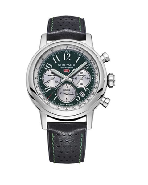 CHOPARD MILLE MIGLIA STAINLESS STEEL AND LEATHER WATCH LIMITED EDITION OF 300 PIECES REF. 168589-3009