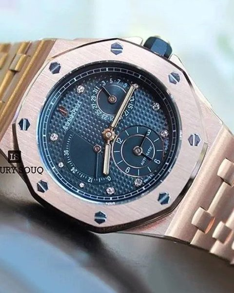 AUDEMARS PIGUET ROYAL OAK 25730BA DUAL TIME ZONE YELLOW GOLD MEN'S WATCH