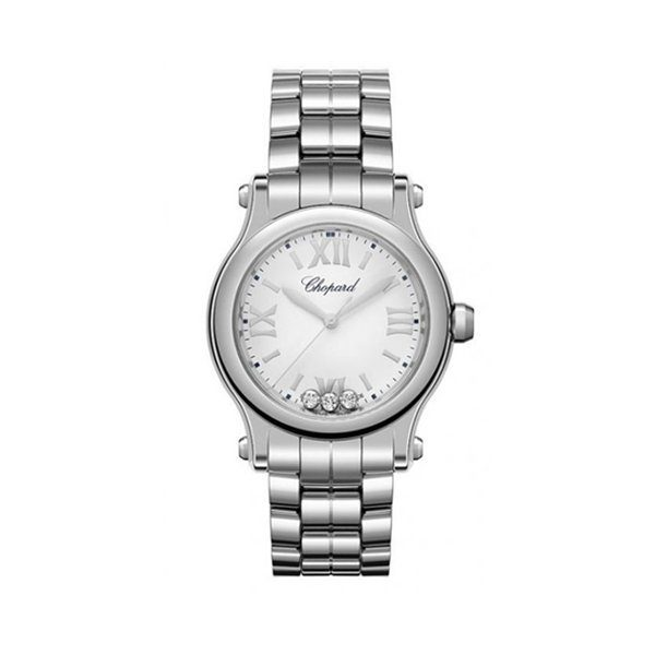 CHOPARD HAPPY SPORT QUARTZ WHITE DIAL LADIES WATCH REF. 278590-3002