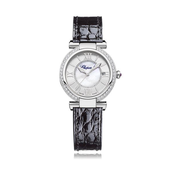 CHOPARD IMPERIALE STAINLESS STEEL DIAMONDS & AMETHYST LADIES WATCH REF. 388563-3003