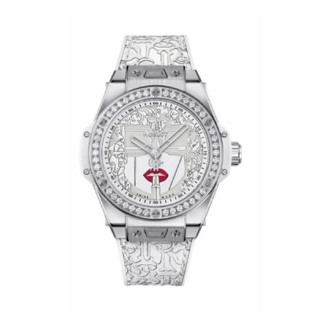 HUBLOT BIG BANG ONE CLICK 39MM MARC FERRERO STEEL WHITE LIMITED EDITION 100 PIECES REF. 465.SX.2020.VR.1204.LIP20