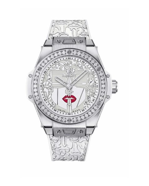 Hublot Pre-owned Big Bang One Click 39mm Marc Ferrero Steel White Limited Edition 100 Pieces Men's Watch