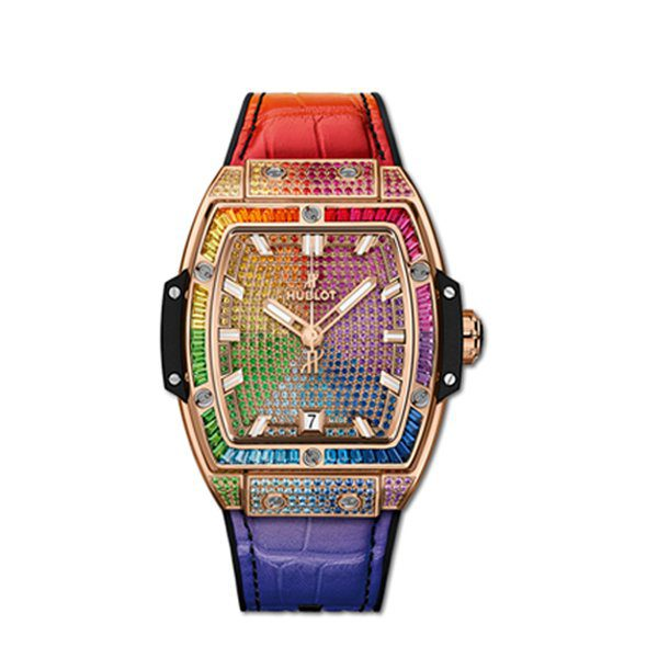 HUBLOT SPIRIT OF BIG BANG KING GOLD RAINBOW WATCH 18K KING GOLD DIAL REF. 665.OX.9910.LR.0999