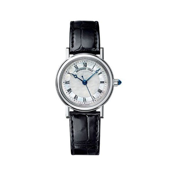 BREGUET CLASSIQUE MOTHER OF PEARL DIAL 18K WHITE GOLD LADIES WATCH REF. 8067BB52964