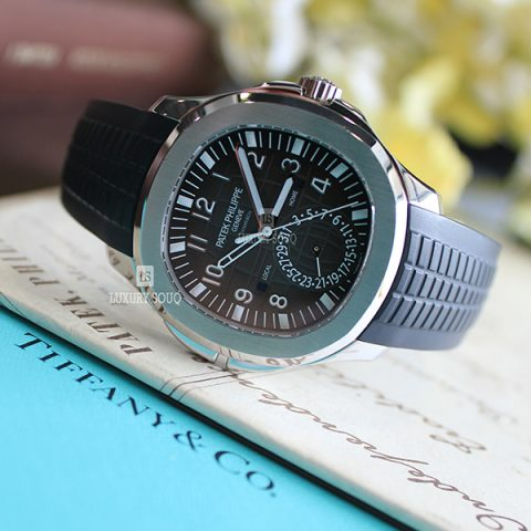 "TIFFANY PATEK PHILIPPE AQUANAUT 5164A-001 TRAVEL TIME ""Tiffany & Co."" DIAL"