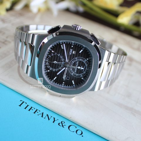 "TIFFANY PATEK PHILIPPE NAUTILUS 5990/1A-001 ""Tiffany & Co."" DIAL TRAVEL TIME CHRONOGRAPH"