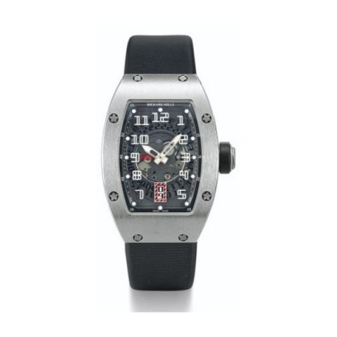 RICHARD MILLE TITANIUM AUTOMATIC BLACK DIAL LADIES WATCH
