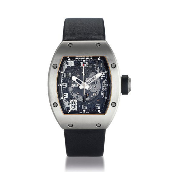 RICHARD MILLE TITANIUM AUTOMATIC SKELETONISED WRISTWATCH WITH DATE DISPLAY