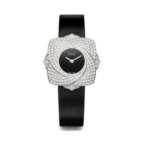 PIAGET LIMELIGHT BLOOMING ROSE 34MM QUARTZ IN WHITE GOLD WITH DIAMOND BEZEL REF. G0A39182