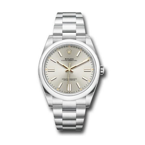 ROLEX OYSTER PERPETUAL 41MM DOMED BEZEL SILVER DIAL 2020 RELEASE REF. 124300 SIO