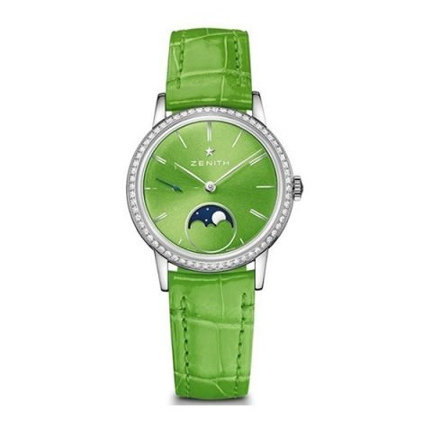ZENITH ELITE LADY MOONPHASE APPLE GREEN LACQUERED 33MM LADIES WATCH REF. 16.2332.692/64.C816