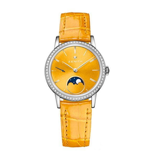 ZENITH ELITE LADY MOONPHASE YELLOW LACQUERED 33MM LADIES WATCH REF. 16.2331.692/74.C815