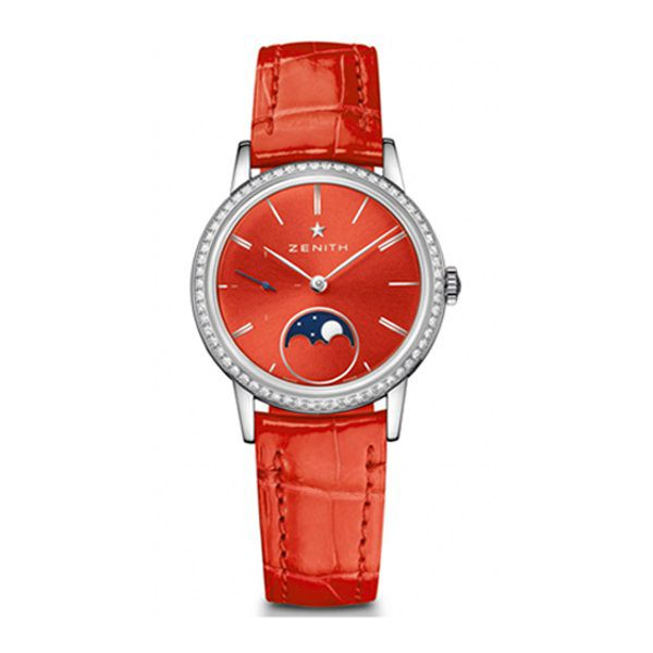 ZENITH ELITE LADY MOONPHASE RED LACQUERED 33MM LADIES WATCH REF. 16.2334.692/71.C818