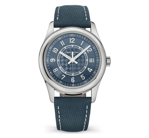 Patek Philippe Pre-Owned Calatrava Steel Blue Dial Limited Edition Watch