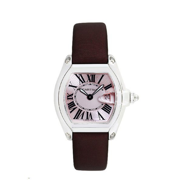 CARTIER ROADSTER PINK DIAL STAINLESS STEEL QUARTZ LADIES WATCH REF. 2675