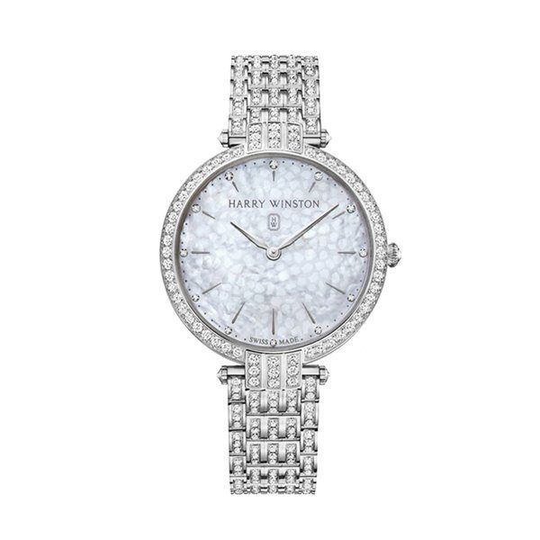 HARRY WINSTON PREMIER QUARTZ 39MM LADIES WATCH REF. PRNQHM39WW003