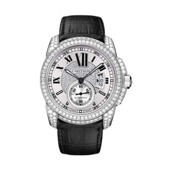 CARTIER  CALIBRE DE CARTIER AUTOMATIC WHITE GOLD DIAMONDS REF. WF100007