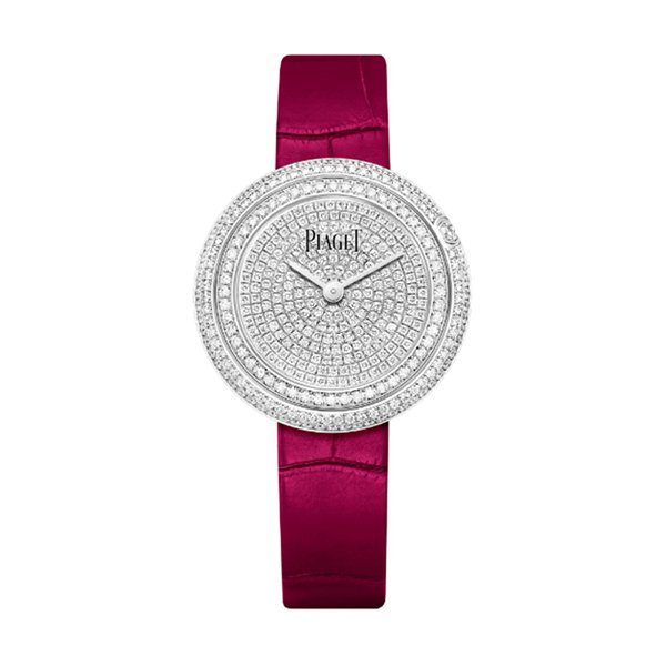 PIAGET POSSESSION WHITE GOLD DIAMOND PAVED DIAL PINK STRAP NOVELTY REF. G0A44299