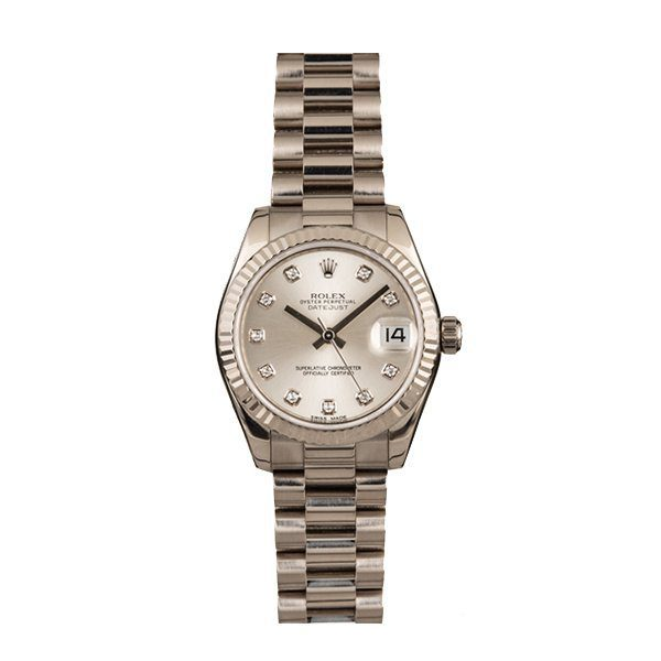 ROLEX DATEJUST PRESIDENT DIAMOND DIAL LADIES 31MM REF.  178279