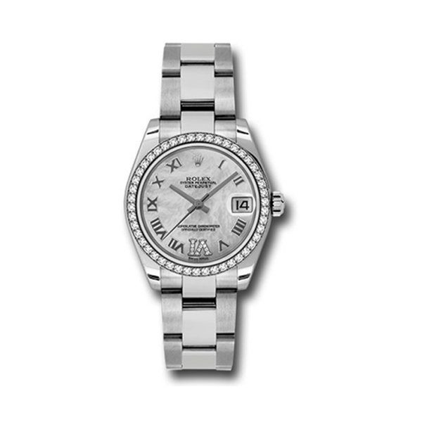 ROLEX STEEL AND WHITE GOLD DATEJUST 31MM MOTHER-OF-PEARL LADIES WATCH REF. 178384