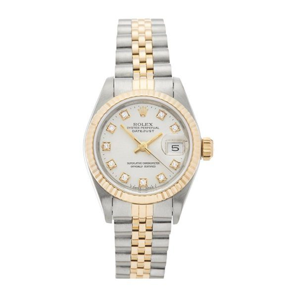 ROLEX DATEJUST 26MM STAINLESS STEEL & 18K YELLOW GOLD LADIES WATCH REF. 69173