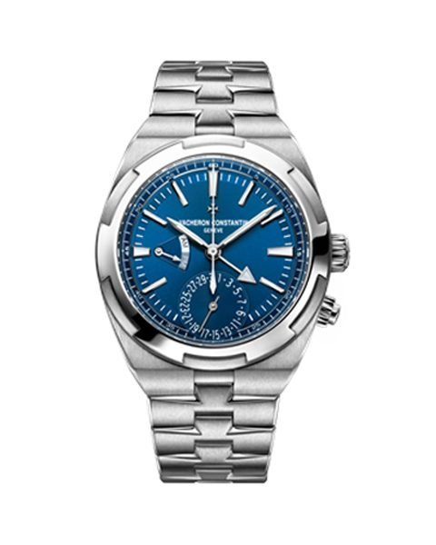 VACHERON CONSTANTIN OVERSEAS BLUE DIAL AUTOMATIC DUAL TIME MEN'S WATCH REF. 7900V/110A-B334