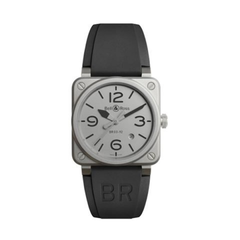 BELL & ROSS BR03-92 AUTOMATIC 42MM MEN'S WATCH LIMITED EDITION REF. BR0392-GBL-ST/SRB