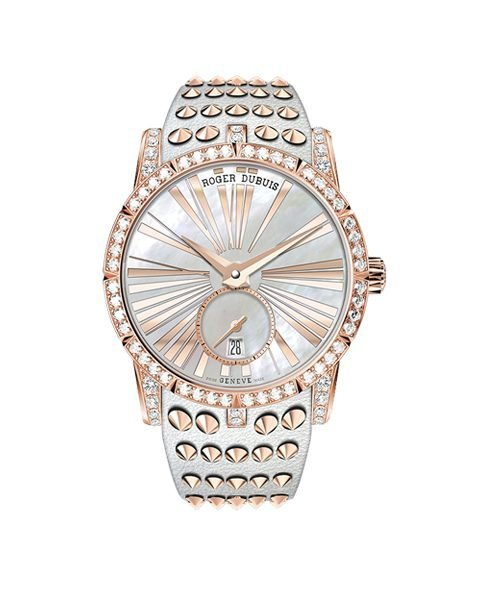 ROGER DUBUIS EXCALIBUR STUDS ROSE GOLD AUTOMATIC LADIES WATCH REF. RDDBEX0667