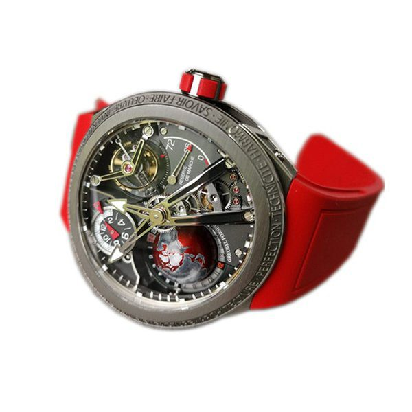 GREUBEL FORSEY GMT SPORT RED 45MM TITANIUM LIMITED EDITION 11 PCS MEN'S WATCH
