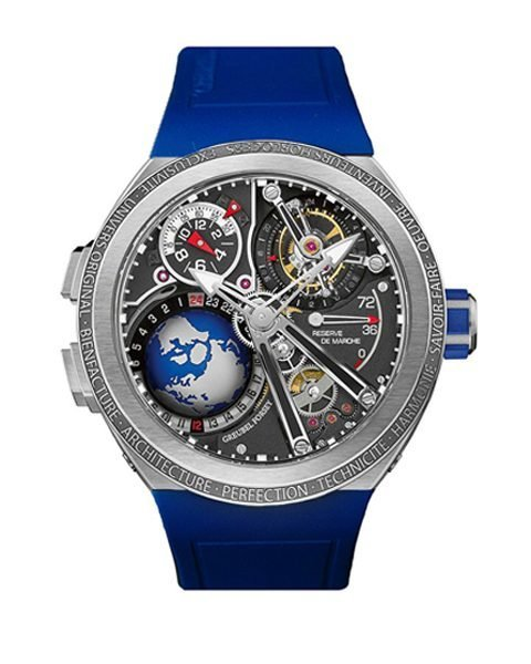 GREUBEL FORSEY GMT SPORT BLUE 45MM TITANIUM LIMITED EDITION 11 PCS MEN'S WATCH