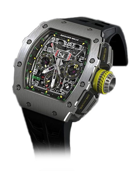 Richard Mille Pre-owned Flyback Chronograph Titanium Men's Watch