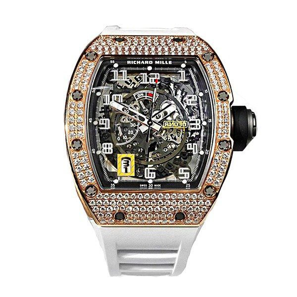 RICHARD MILLE ROSE GOLD DIAMOND MEN'S WATCH REF. RM 30