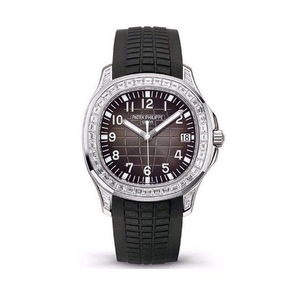 PATEK PHILIPPE AQUANAUT DIAMOND BEZEL MEN'S WATCH REF. 5167/300G-010