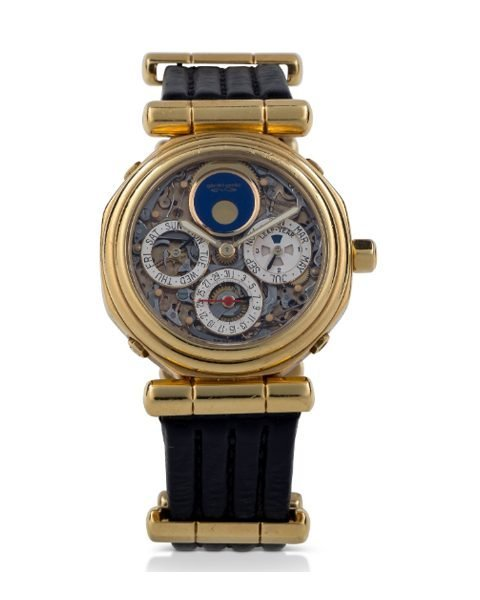 GERALD GENTA YELLOW GOLD PERPETUAL CALENDAR TOURBILLON WITH MOON PHASES AND LEAP-YEAR INDICATION LADIES WATCH REF. G.3559.4