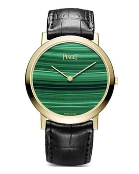 PIAGET ALTIPLANO HARD STONE GREEN DIAL 38MM ROSE GOLD MEN'S WATCH REF.G0A37202