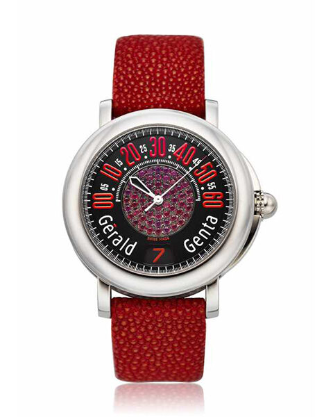 GERALD GENTA RETRO SPORT AUTOMATIC JUMPING HOUR WITH DIAMONDS MEN'S WATCH REF. RSP.X.10